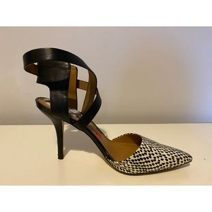 Marc Fisher Molly Black and White Pumps